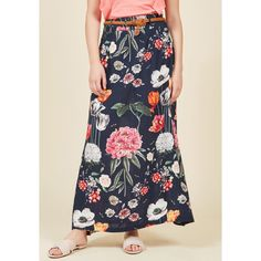 In Love With Length Maxi Skirt ($55) ❤ liked on Polyvore featuring skirts, a-line skirt, apparel, bottoms, varies, floral skirt, long floral skirts, maxi skirts, floral a line skirt and midi skirt