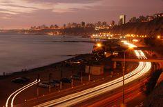 Shoreline of Lima, Peru