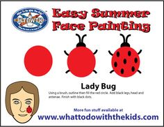 Simple and Easy Face Painting Design - Lady Bug