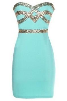 Sweetheart Sequin Dress | USTrendy