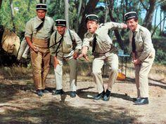 Louis de Funès, Michel Galabru, Jean Lefèvre et Christian Marin : Le Gendarme de Saint-Tropez, 1964 Photographie par Marcel Dole sur AllPosters.fr