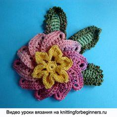 cómo las hojas de punto, ganchillo, encaje irlandés, flores de ganchillo