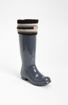 Hunter Rain Boot & Pattern Cuff Welly Socks
