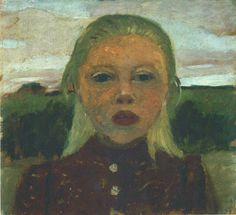Paula Modersohn-Becker - Head of a Blond Girl in Front of a Landscape, 1901 (cat. 14)