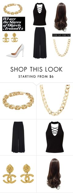 """""""Slave to Fashion"""" by lialicious on Polyvore featuring Calvin Klein, Charlotte Russe, T By Alexander Wang, Miss Selfridge, Chanel, Gianvito Rossi, TrickyTrend and culottes"""