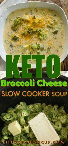 a keto broccoli cheese slow cooker soup that is easy to make, low in carbs, gluten-free and thickened with only cheesy goodness. It's a low carb broccoli cheese soup that everyone will enjoy.It's a keto broccoli cheese slow cooker soup that. Keto Crockpot Recipes, Diet Recipes, Healthy Recipes, Recipes Dinner, Crockpot Low Carb Meals, High Protein Bariatric Recipes, Recipies, Juice Recipes, Seafood Recipes