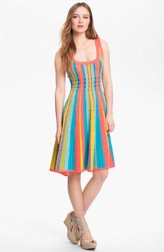 kate spade new york 'ariele' cotton blend a-line dress   Nordstrom // Im kinda digging this
