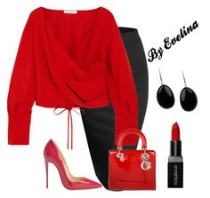 """""""EVE"""" by evelina-er on Polyvore featuring Doublju, Adeam, Christian Louboutin, Christian Dior and Smashbox"""