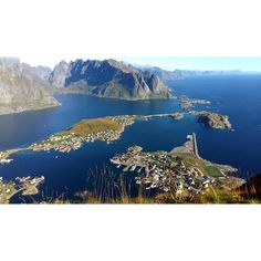 Stamp #540 - Norway: Island Heaven  Pictured are the Lofoten Islands which was part of a view from a hike in Reinebringen. You can see the entire city of Reine from the top of this mountain. It's simply amazing and the landscape and the views are something else! When it's the right time of year this is also the same location where you can see the Northern Lights. Thanks @ambra_aliraj for sharing your #stamp! For more adventures and travel tips download the Stamp Travel App today. The link is…