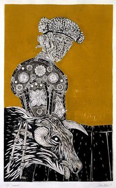 Toreando (83 x 51 cm) (1968) by Antonio Berni (Argentinian 1905-1981)