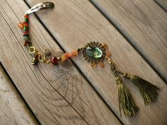 Green Tassel Pirate Hair Clip by KukoCreations on Etsy, $13.00