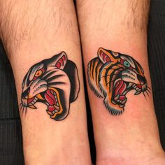 Search inspiration for an Old School tattoo. Tiger Head Tattoo, Head Tattoos, Body Art Tattoos, Sleeve Tattoos, Pin Up Tattoos, Traditional Panther Tattoo, Traditional Tattoo Design, American Traditional Tattoos, Jaguar Tattoo