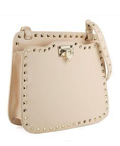 Rivets Embellished Pure Color Shoulder Bag - Bags - Accessories