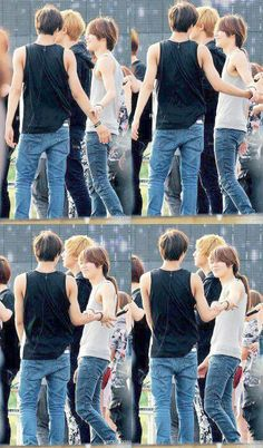 Kai * Taemin~~~The twins being touchy feely, as usual.
