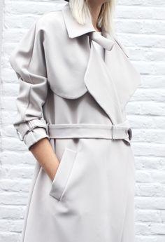 Chic Style - grey minimalist trench coat