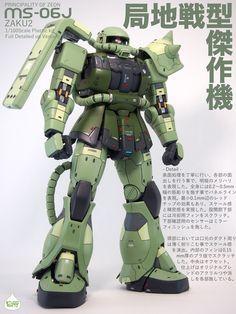Gundam plastic kit 1/100 MS-06J ZAKU2 Custom build MG ザク2 精密 改修 ガンダム ガンプラ ザク ディテール カスタム