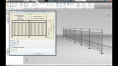 Straight handrail driven using iLogic in Autodesk Inventor.