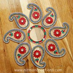 Indian wedding paisely table decor  Diwali Rangoli keri by Nirman, $28.00