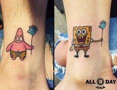 The best BFF tattoos ever. The best BFF tattoos ever. Bff Tattoos, Bestie Tattoo, Sibling Tattoos, Cartoon Tattoos, Couple Tattoos, Trendy Tattoos, Future Tattoos, Body Art Tattoos, Small Tattoos