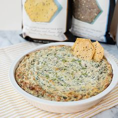 Blue Cheese-Bacon Spinach Dip, ready to eat