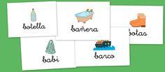 Bits de imagenes para vocabulario: Letra B