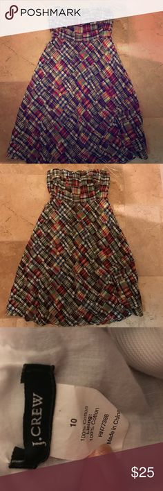 J crew Madris strap less dress great condition JCrew Madris strapless dress, great condition no flaws Dresses Strapless