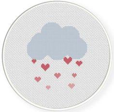 FREE Love Shower Cross Stitch Pattern