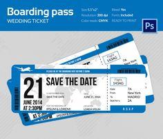 Cartão De Embarque Boarding Pass Brand Fonts And Business Cards - Plane ticket wedding invitation template free