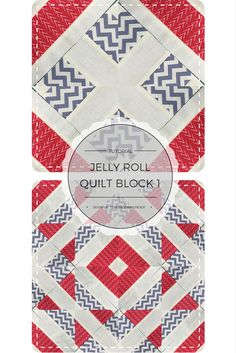 Quick and easy jelly roll quilt block video tutorial