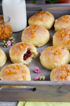 Pączki pieczone - Justyna Dragan Doughnut, Hamburger, Cake Recipes, Bread, Cookies, Baking, Desserts, Food, Diet