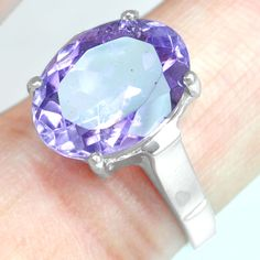 925 Sterling Silver Natural Purple Amethyst Ladies Ring Fashion Fine Jewelry $ #Unbranded