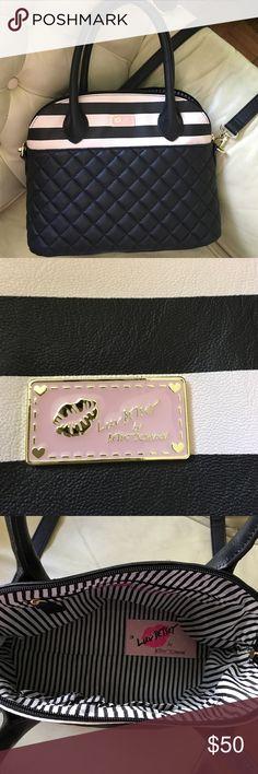 Cross body bag Black and pink cross body bag Betsey Johnson Bags Crossbody Bags