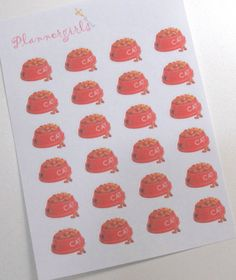 24 Cat Food Icon MATTE Stickers for Erin Condren by Plannergirls