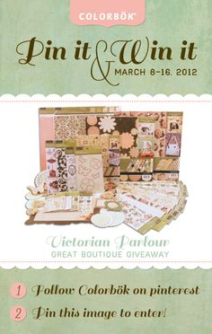 We posted our first Pinterest give-away!!    Pin this image for a chance to win the entire Victorian Parlour boutique!