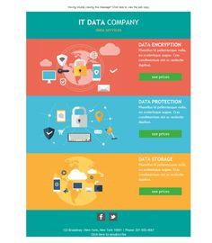Las plantillas newsletter de Mailify para servicios informáticos son perfectas para mejorar la relación con el cliente.