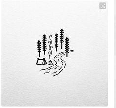 Un petit motif tout simple pour célébrer la beauté du plein air. Astuce: réalisez une illustration de ce genre en utilisant la bouteille de Zendoodle! #crackpotcafe