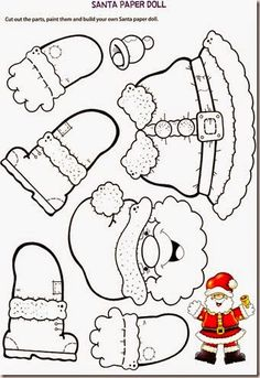 - NOEL - Coloriage et découpage pour occuper petit et grand Coloring and cutting to occupy small and big. Preschool Christmas, Christmas Paper, Christmas Activities, Christmas Crafts For Kids, Christmas Printables, Christmas Colors, Christmas Projects, Winter Christmas, Holiday Crafts
