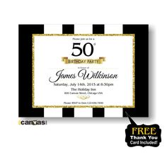 30th 40th 50th 60th 70th 80th birthday Invitation for Men Women. Any age. Golden Glitter, Elegant Adult Birthday Invitation Printable #178 by 800Canvas on Etsy