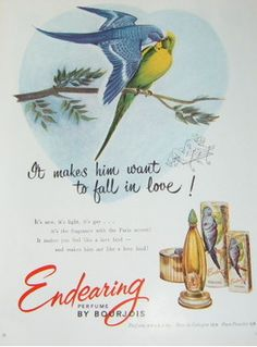Parfum Ramage Bourjois Endearing  1951 #Bourjois #Pub