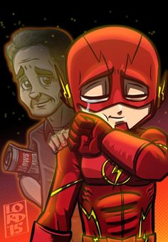 'Henry Allen' and 'Barry Allen' as 'The Flash' fan art O Flash, Flash Art, Marvel Vs, Marvel Comics, Great Father, Father And Son, Aquaman, Batman, Superman
