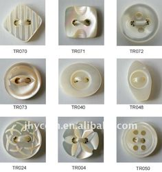 fanshion trocas shell buttons with various shape