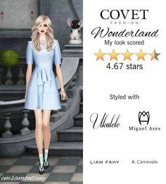 Wonderland @covetfashion  #covet #covetfashion #fashion #covetsummer2015 #wonderland #aliceinwonderland #happysocks #liamfahy #ukulele #suzannadai #dovesbydoronpaloma #miguelases