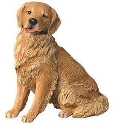 Golden Retriever Dog Statue-This Golden Retriever statue looks so realistic, you might be tempted to give him a bone. For over 25 years, the canine lovers at Sandicast Studios in San Diego have been producing the most lifelike dog statues on the market. They are made from quality designer resin and hand finished with glass eyes and artist grade paints. You will enjoy the company of this Golden Retriever statue in your home for years to come.