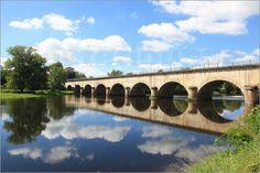 Poster Loire Frankreich Brücke