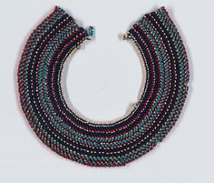 Purchased: P. Keytell Collection, Iziko Museums of Cape Town. Necklace Types, Beaded Necklace, Necklaces, Xhosa, African Trade Beads, Love Letters, African Art, Cape Town, Corsets