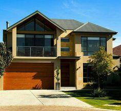 House Plans in Modern Architecture. Modern House Floor Plans, Modern House Facades, Modern House Design, Modern Architecture Design, House Elevation, Facade House, House Exteriors, Architect Design, Exterior Design