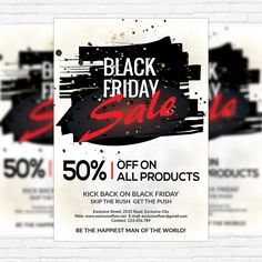 Black Friday Flyer Template  HttpXtremeflyersComBlackFriday