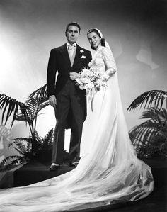 Tyrone Power and 2nd wife Linda Christian, 1949