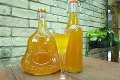 Dried Apricot Liqueur Bottles Cordial Glass Homemade Dried Apricot Liqueur, A Sun Kissed Gift from the Gods More complex than Gram's version. Rum Cocktail Recipes, Cocktail Drinks, Alcoholic Drinks, Cocktails, Beverages, Party Drinks, Homemade Alcohol, Homemade Liquor, Cordial