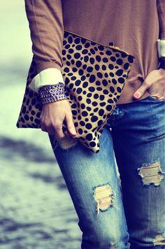 leopard clutch:))